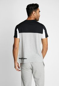 Champion - CREWNECK - Print T-shirt - oxi grey melange/black/white