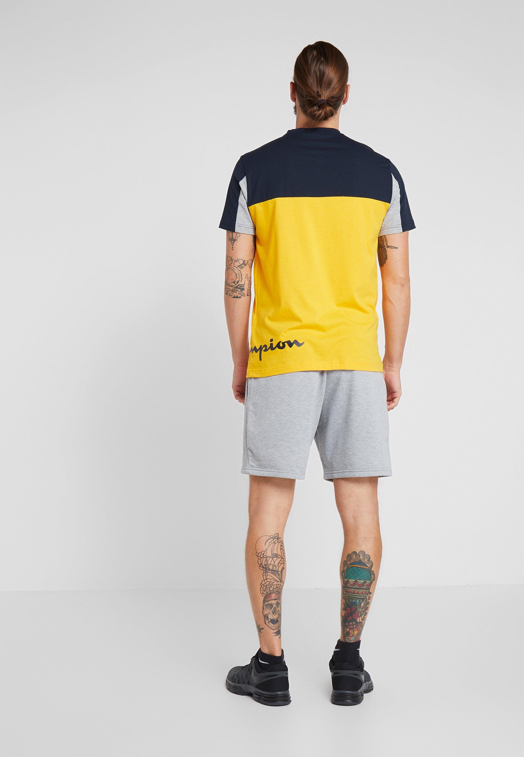 shirt Yellow CrewneckT Champion Champion CrewneckT Imprimé nON0wmv8