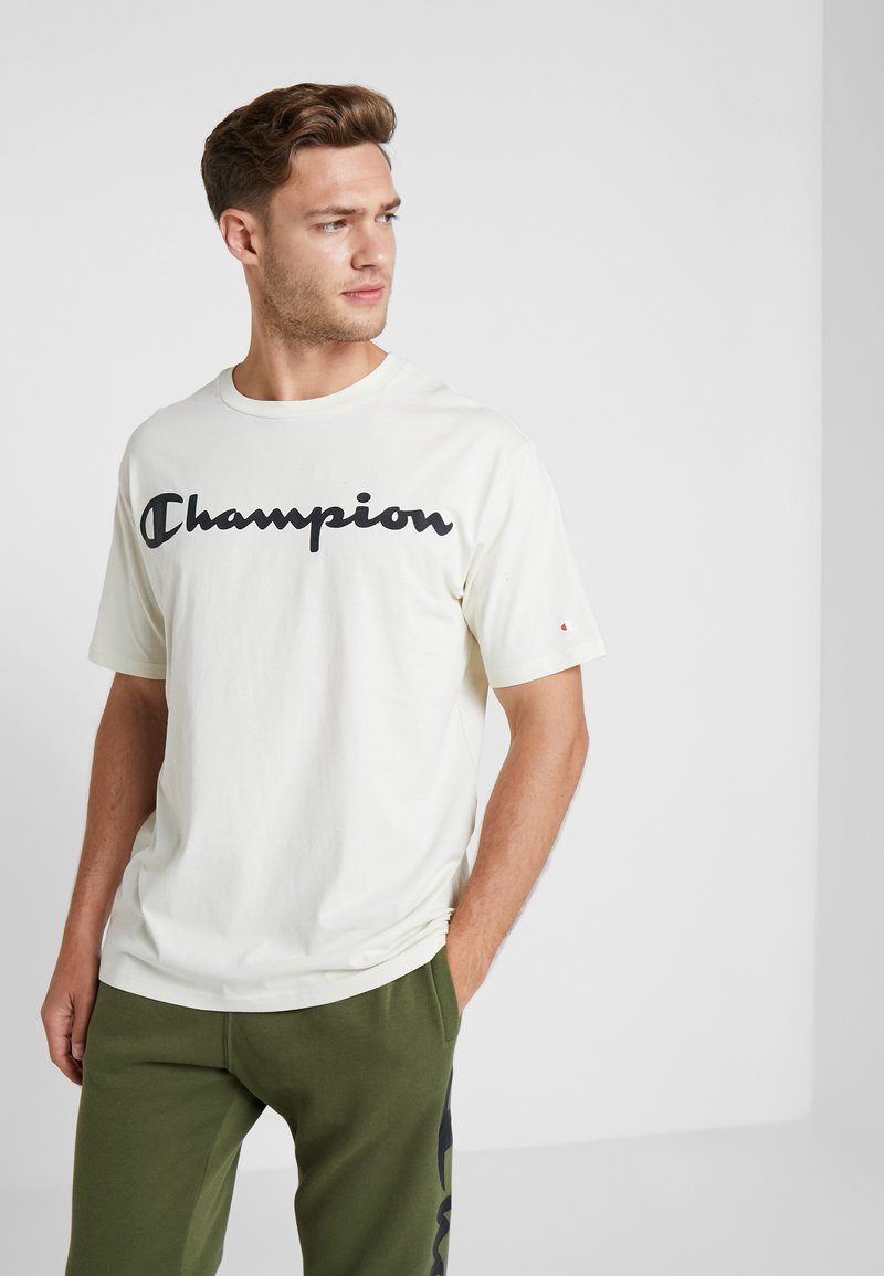 Champion - CREWNECK - Print T-shirt - off-white