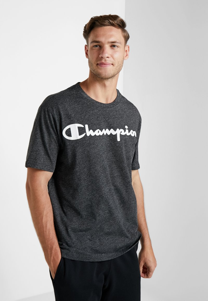 Champion - CREWNECK - T-shirt z nadrukiem - dark grey