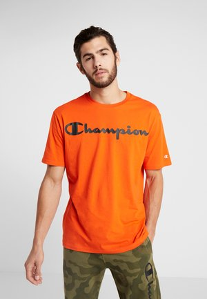 CREWNECK - T-shirt print - orange