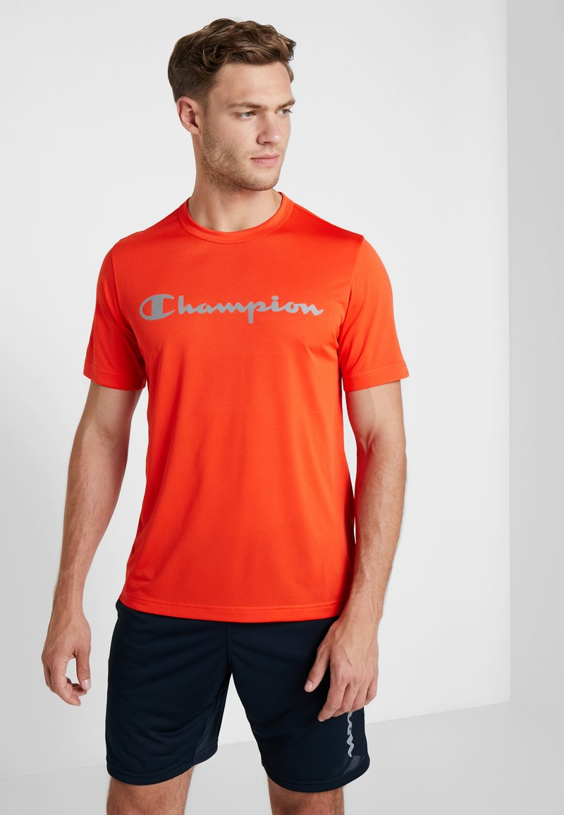 Champion - CREWNECK RUN - Print T-shirt - orange