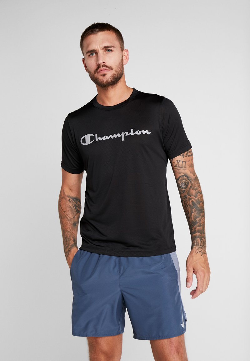 Champion - CREWNECK RUN - Print T-shirt - black