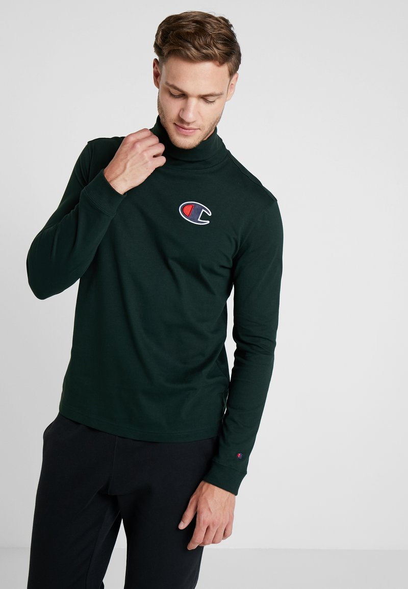 Champion - TURTLE NECK - Long sleeved top - dark green