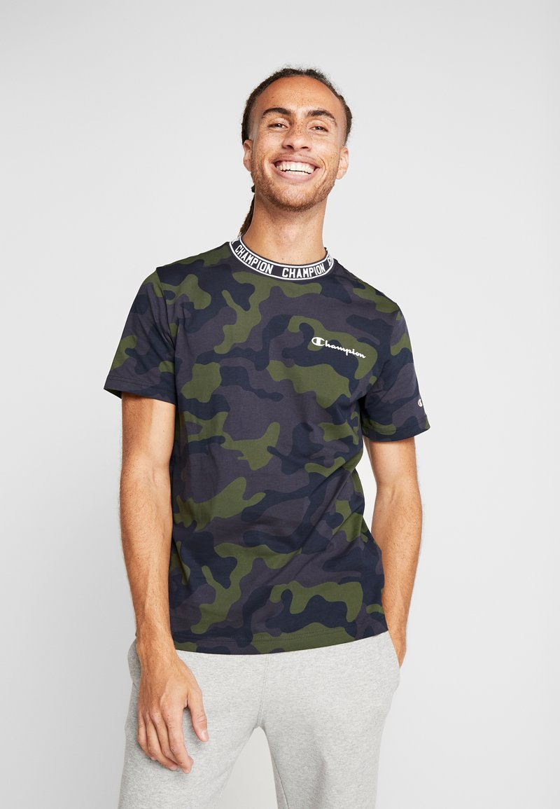 Champion - CREWNECK - T-shirt con stampa - olive
