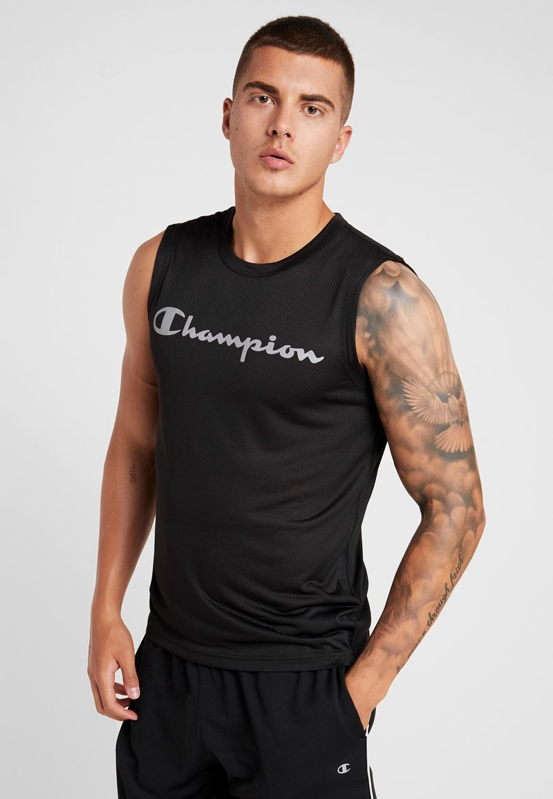 Champion - CREWNECK SLEEVELESS - Linne - black