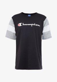 Champion - CREWNECK - Print T-shirt - new black/new oxford grey melange/white - 3