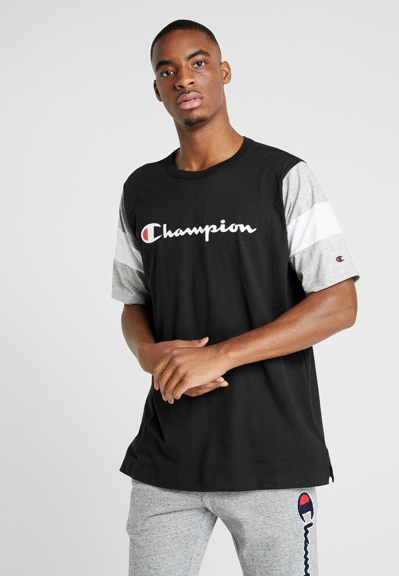 Champion - CREWNECK - Print T-shirt - new black/new oxford grey melange/white