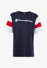 Champion - CREWNECK - Print T-shirt - night sky/white/haute red - 3