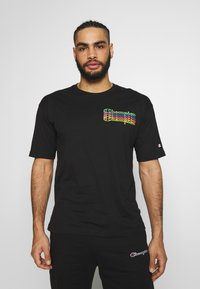 Champion - CREWNECK - T-shirt imprimé - black - 0