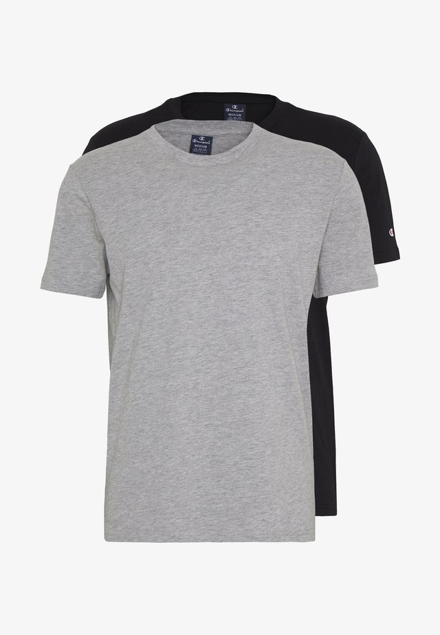 CREW NECK 2 PACK - T-shirts basic - grey/black