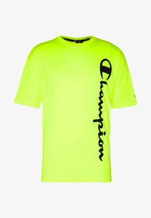 CREWNECK - T-shirt print - neon yellow