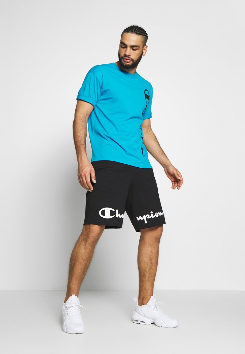 Champion CREWNECK - T-shirt con stampa - neon blue KafVzq vendita online