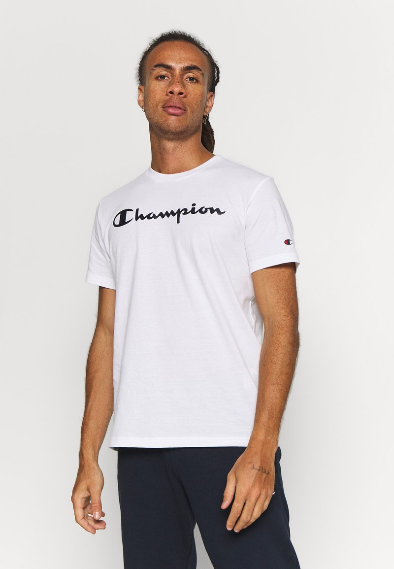 Champion - CREWNECK  - T-shirt z nadrukiem - white