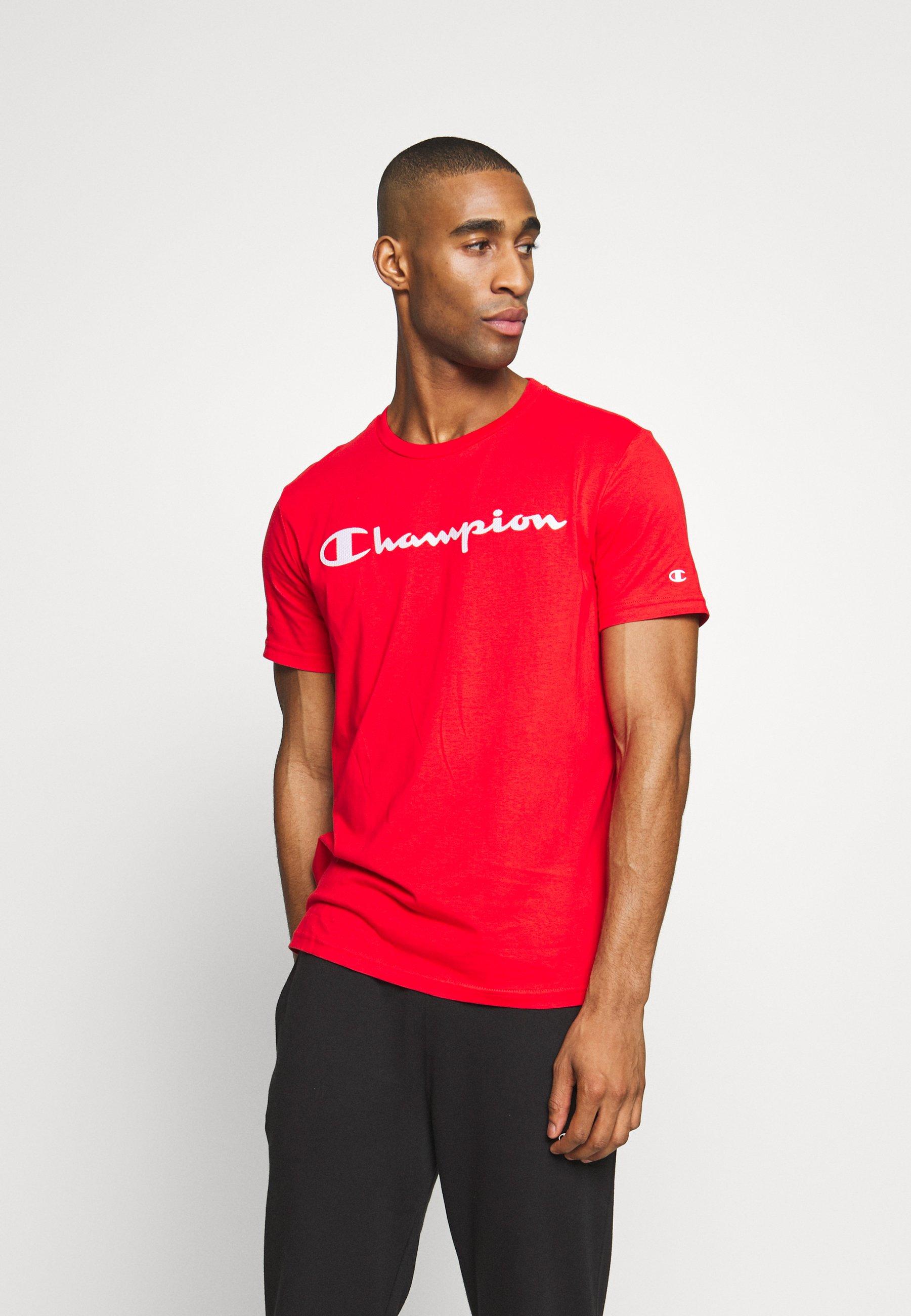 Champion CREWNECK - T-shirt z nadrukiem - red