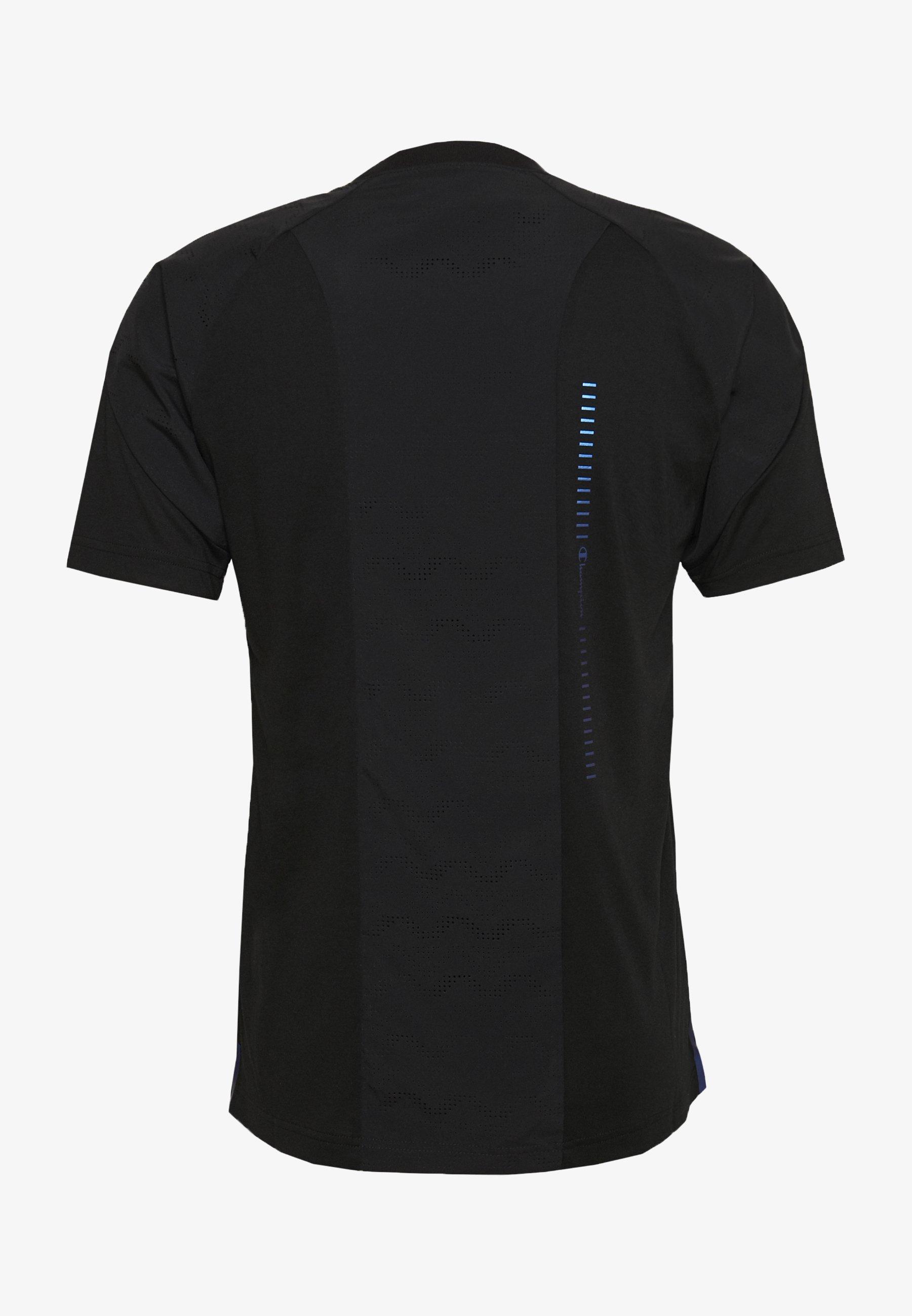 Champion GET ON TRACK - T-shirt imprimé - black