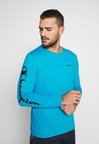 Champion - LONG SLEEVE CREWNECK - Pitkähihainen paita - neon blue - 0