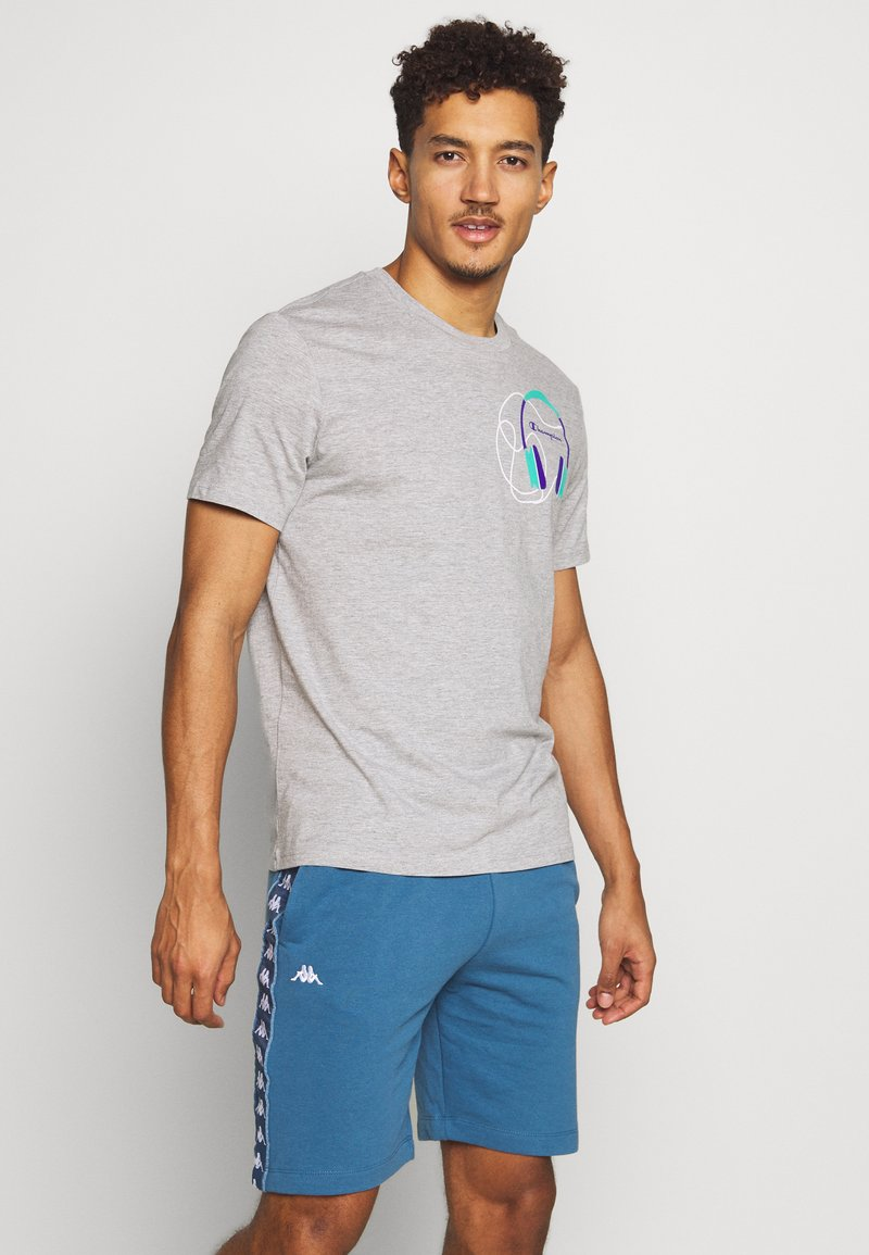 Champion - HEAD PHONES CREWNECK - Camiseta estampada - grey