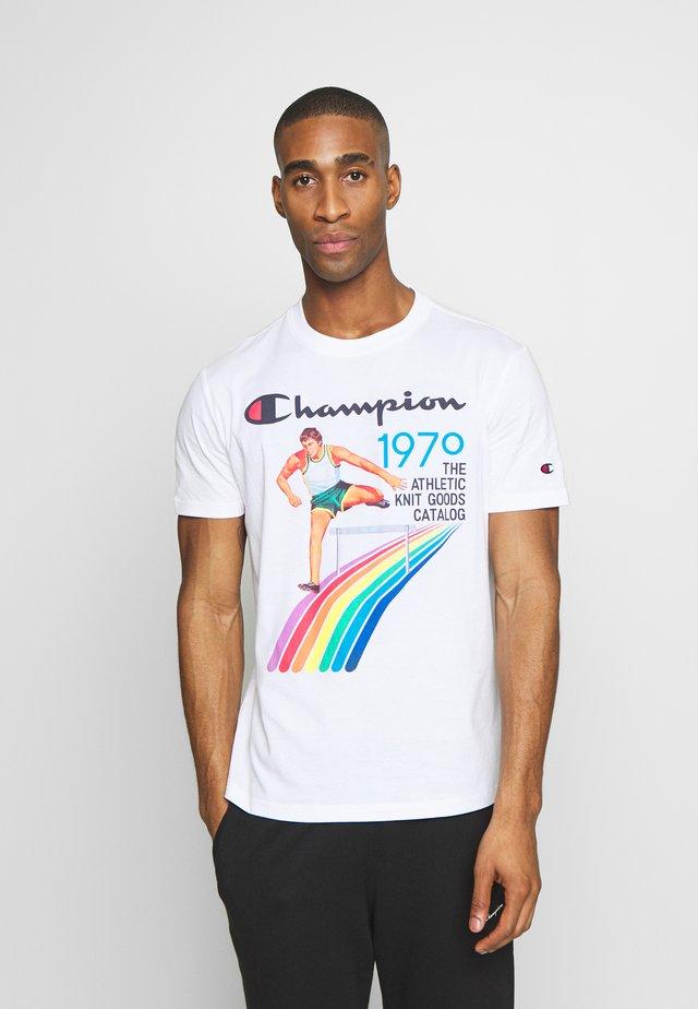 ROCHESTER GRAPHIC CREWNECK - Print T-shirt - white