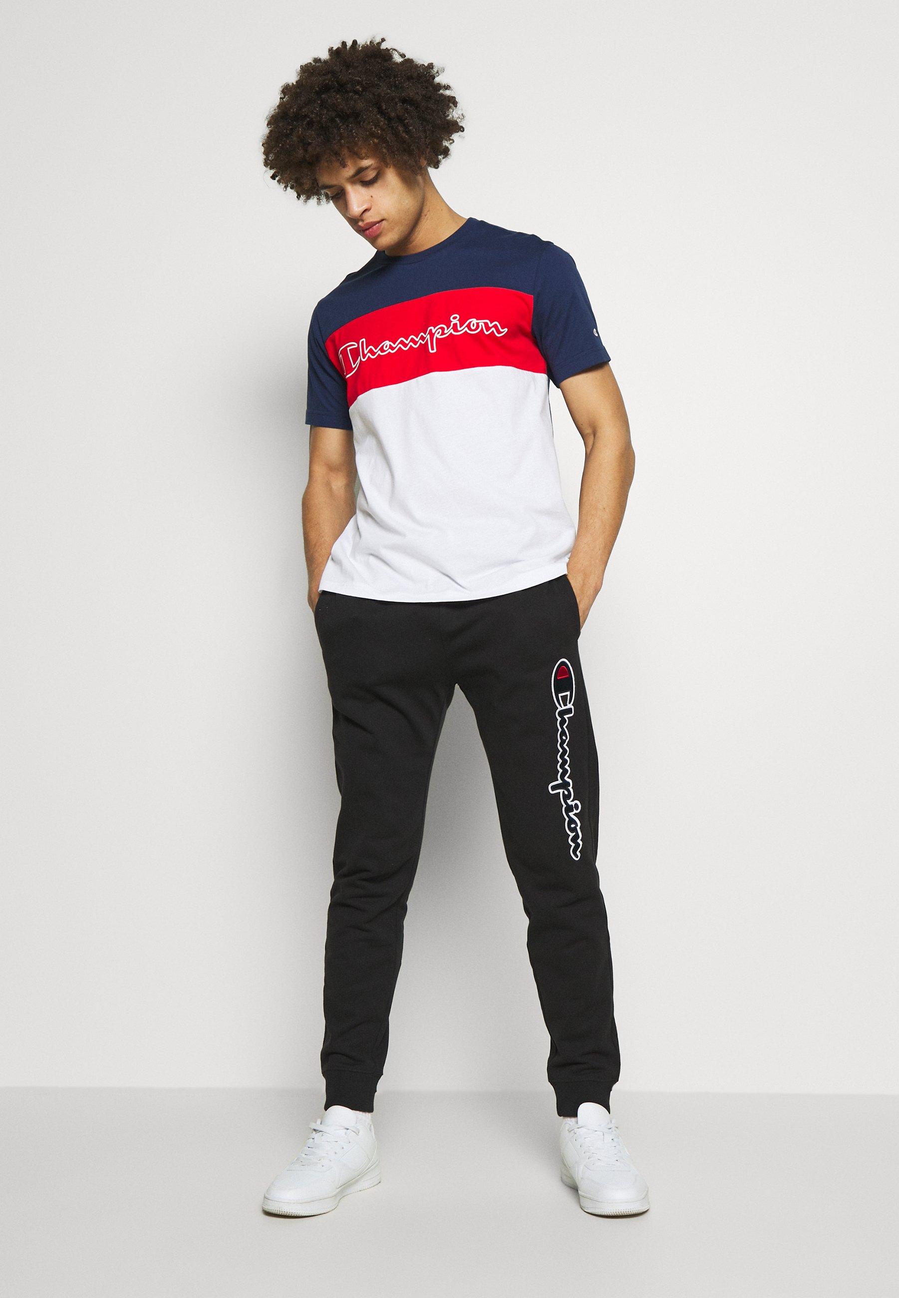 Champion 90S BLOCK CREWNECK - T-shirt z nadrukiem - dark blue