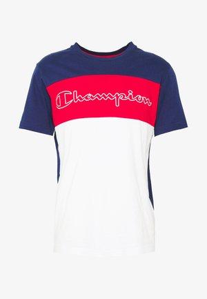 90S BLOCK CREWNECK - T-shirts med print - dark blue