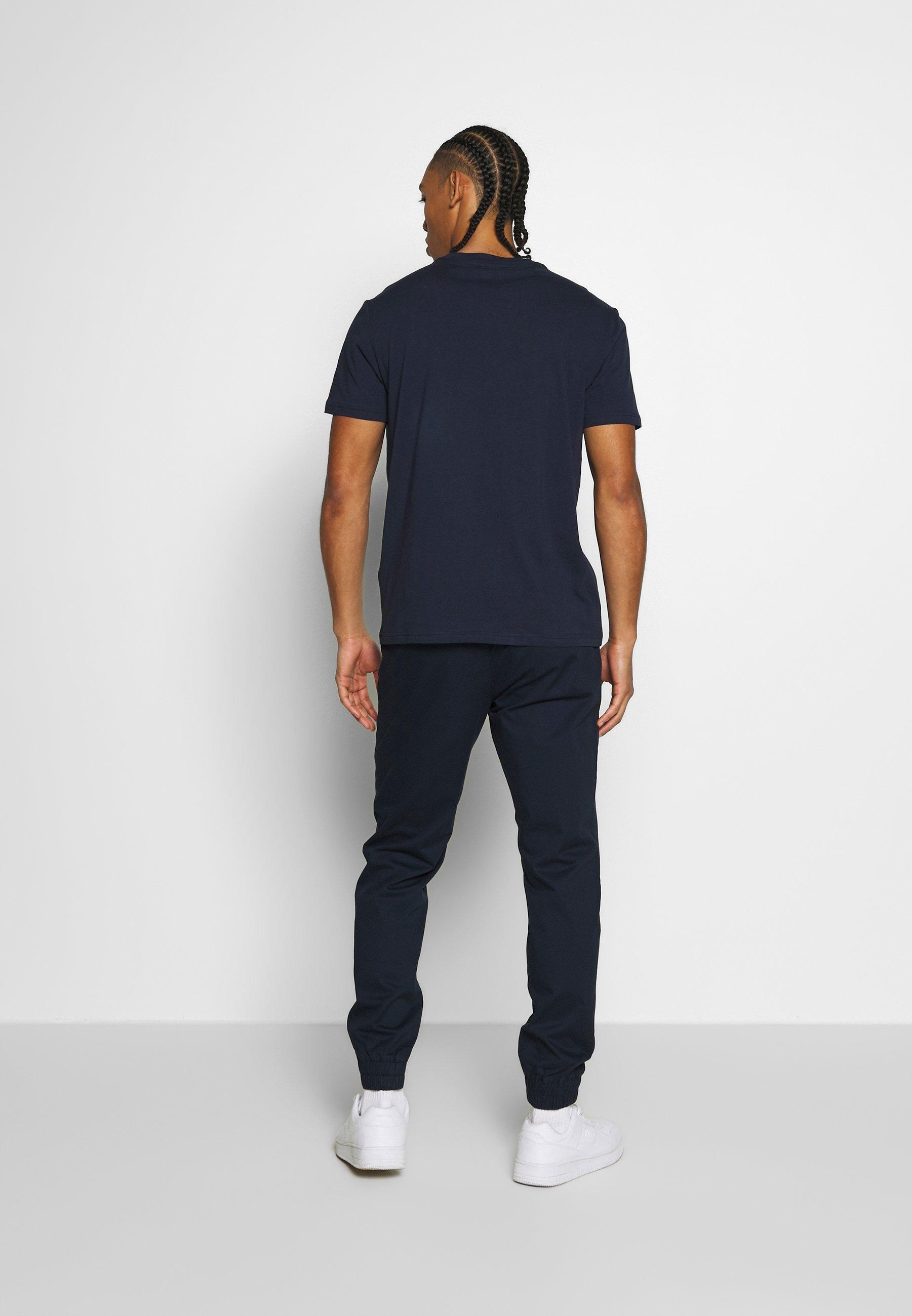 Champion ROCHESTERS GRAPHIC CREWNECK - T-shirt z nadrukiem - dark blue