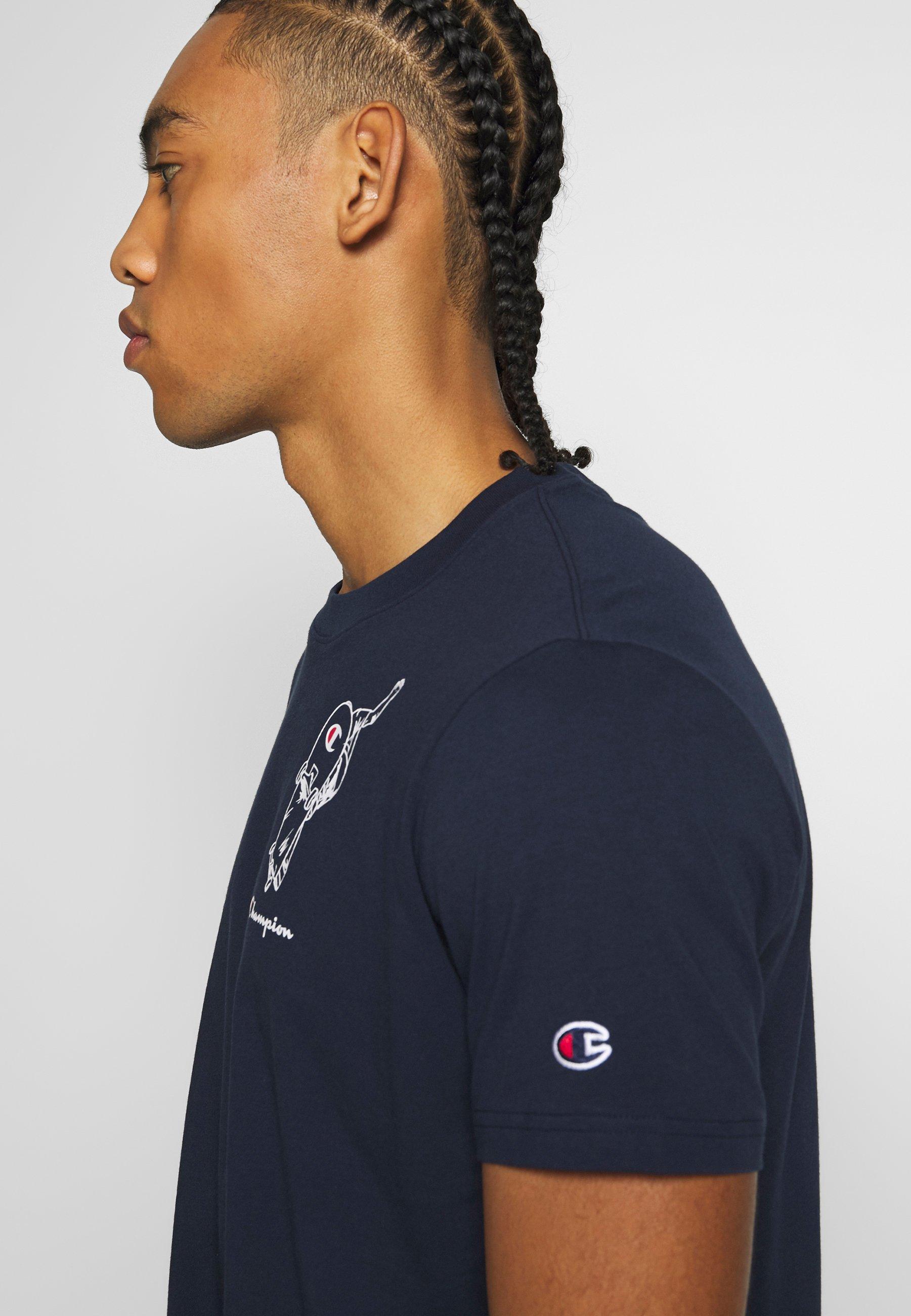 Champion Rochesters Graphic Crewneck - T-shirt Con Stampa Dark Blue 4OBWSfI