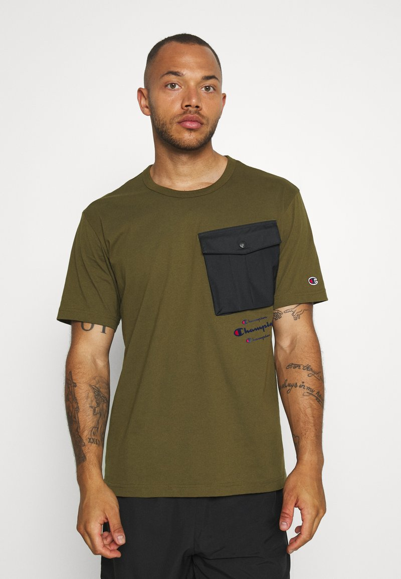 Champion - ROCHESTER WORKWEAR CREWNECK  - Printtipaita - olive