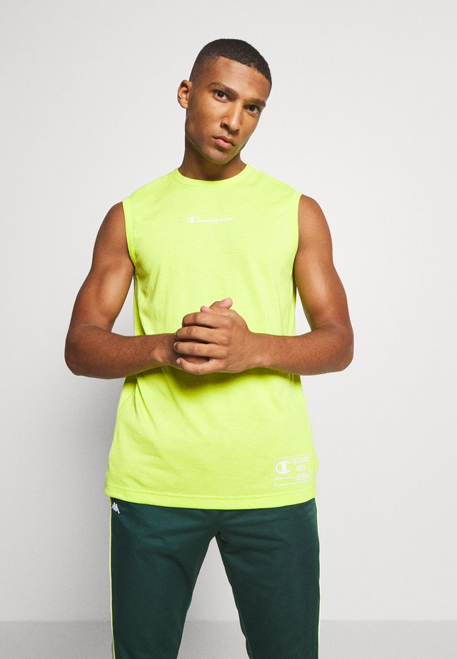 LEGACY TRAINING CREWNECK SLEEVELESS - T-shirt de sport - neon green