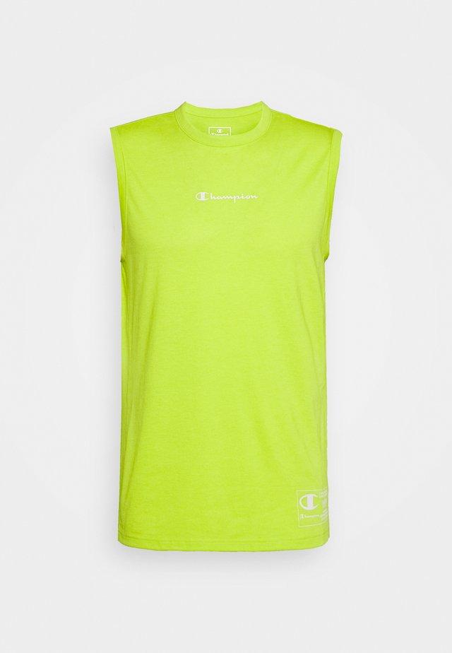 LEGACY TRAINING CREWNECK SLEEVELESS - Sports shirt - neon green