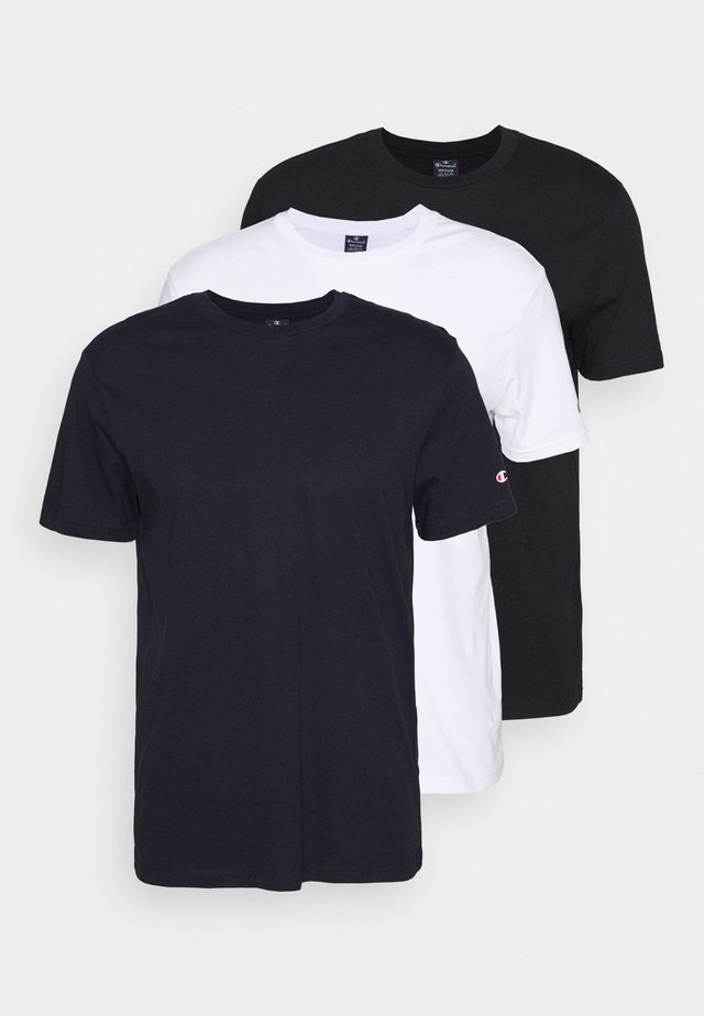 LEGACY CREW NECK 3 PACK - T-shirts basic - white/dark blue/black