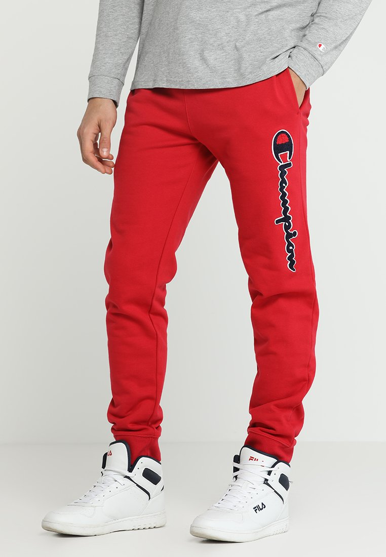Champion - RIB CUFF PANTS - Tracksuit bottoms - red