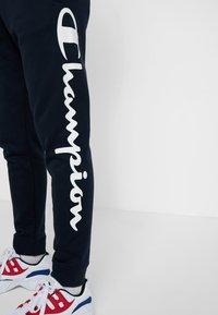 Champion - CUFF PANTS - Pantalon de survêtement - dark blue - 3