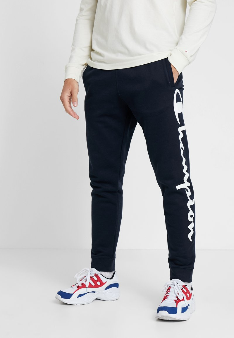Champion - CUFF PANTS - Spodnie treningowe - dark blue