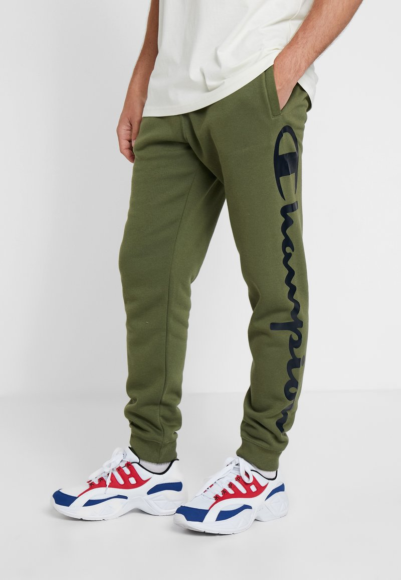 Champion - CUFF PANTS - Tracksuit bottoms - olive