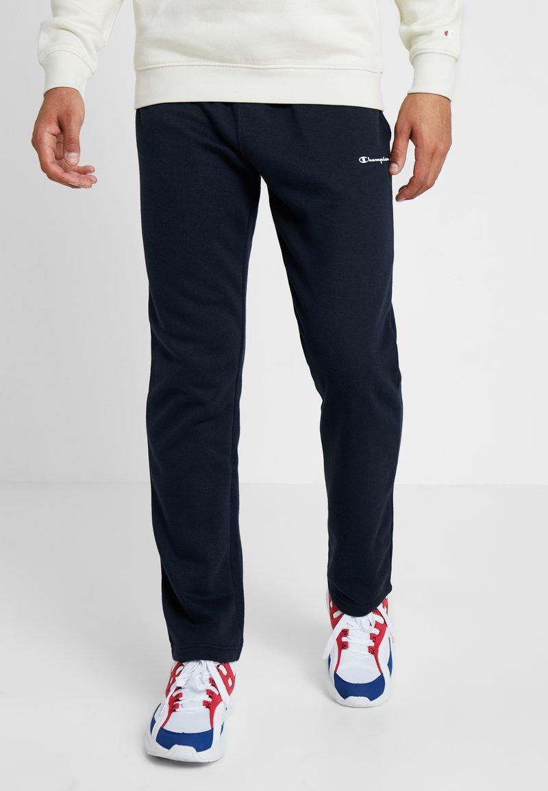 Champion - STRAIGHT HEM PANTS - Trainingsbroek - dark blue