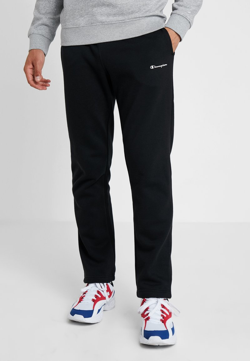Champion - STRAIGHT HEM PANTS - Jogginghose - black