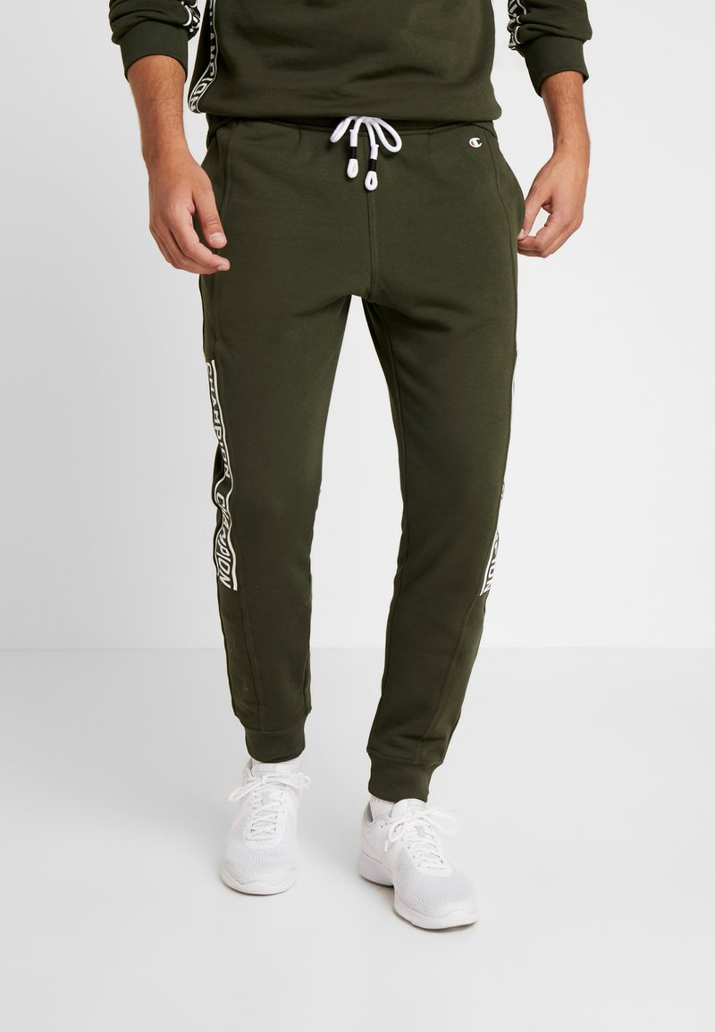 Champion - CUFF PANTS - Spodnie treningowe - dark green