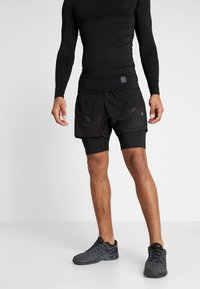 Champion - RUN SHORTS - Pantalón corto de deporte - black - 0