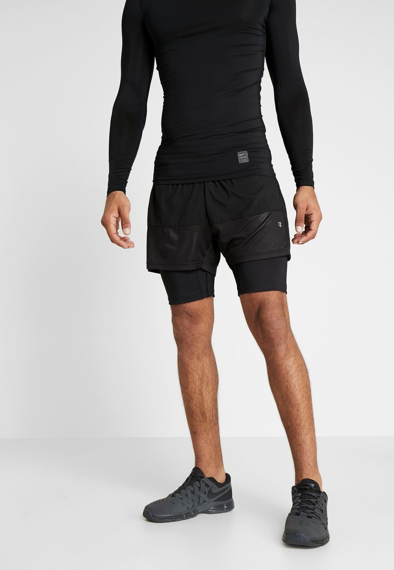 Champion - RUN SHORTS - Pantalón corto de deporte - black