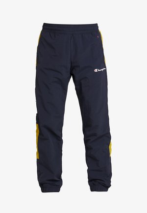HALF BUTTON PANT - Tracksuit bottoms - dark blue/white