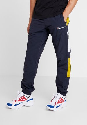 HALF BUTTON PANT - Pantaloni sportivi - dark blue/white