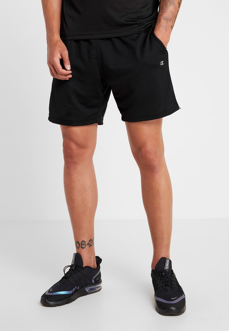 Champion - SHORTS - Sports shorts - black/white