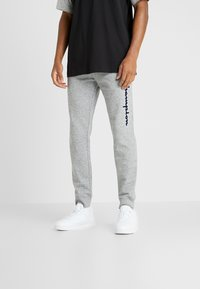 Champion - LOGO RIB CUFF PANTS - Verryttelyhousut - light grey melange - 0