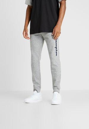 LOGO RIB CUFF PANTS - Pantalones deportivos - light grey melange