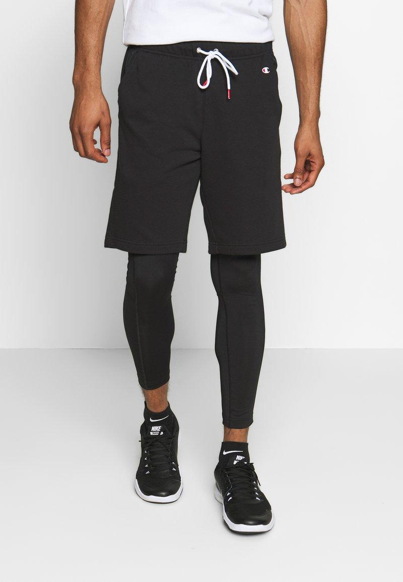 Champion - LOGO BERMUDA - Pantaloncini sportivi - black