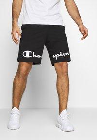 Champion - BIG LOGO BERMUDA - Sports shorts - black - 0