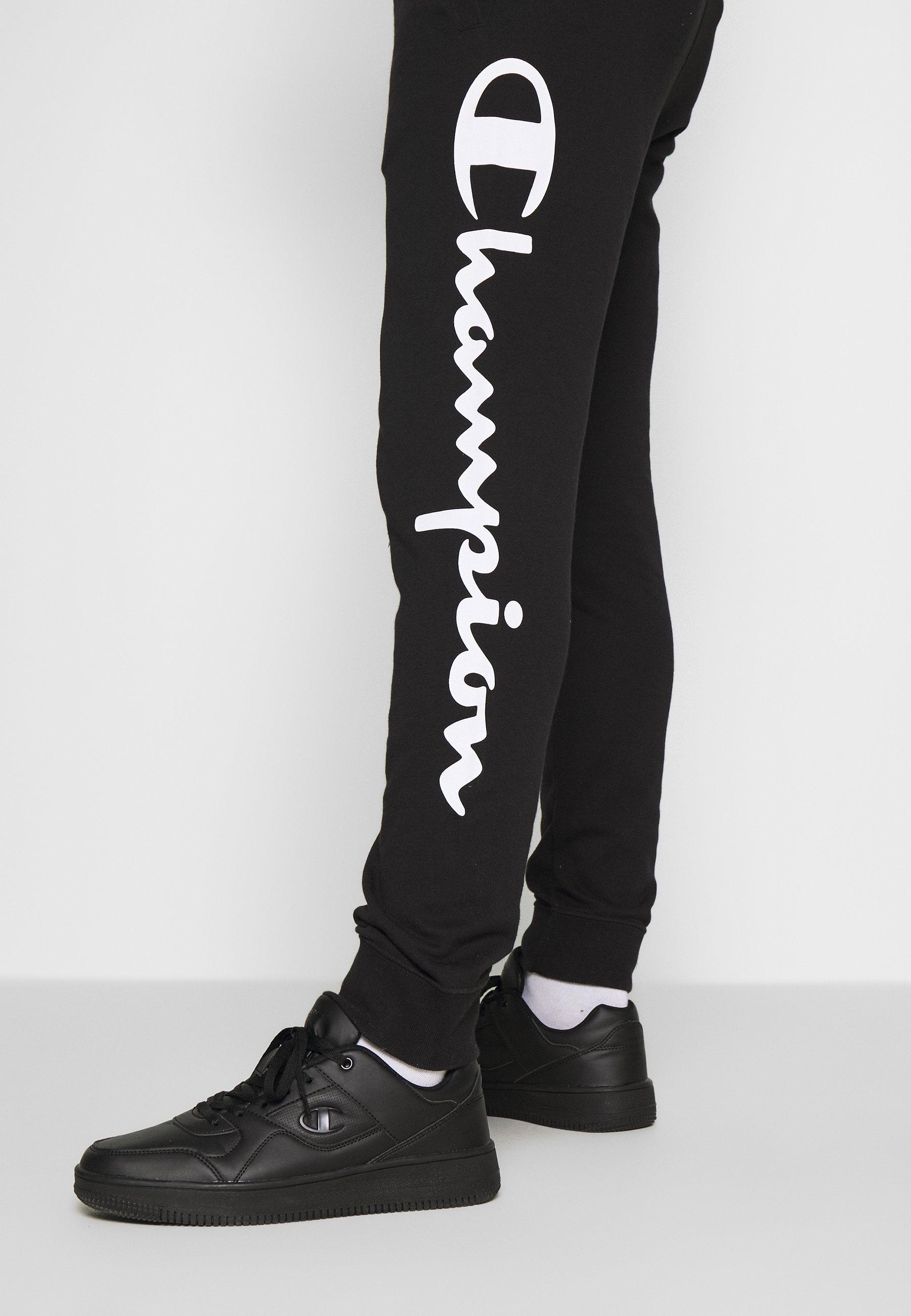 Champion BIG LOGO CUFF PANTS - Spodnie treningowe - black