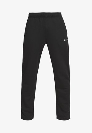 STRAIGHT HEM PANTS - Joggebukse - black