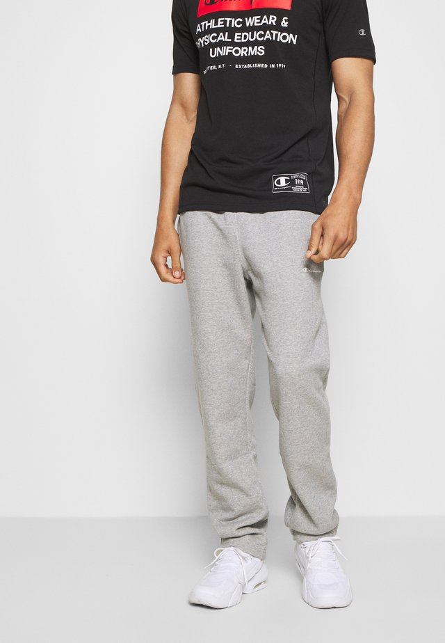 LEGACY STRAIGHT HEM PANTS - Tracksuit bottoms - mottled grey